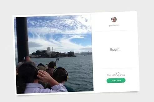 L'application Vine héberge les clips sur un site Internet, à la manière d'Instagram.