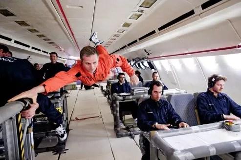 Campagne de vol en apesanteur avec les scientifiques du Cnes.