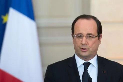 Le chef de l'État en conférence de presse, lundi, à l'Élysée.