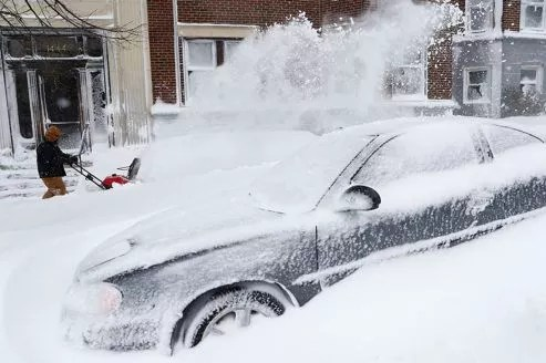 Les chutes de neige ont été très abondantes à Boston.