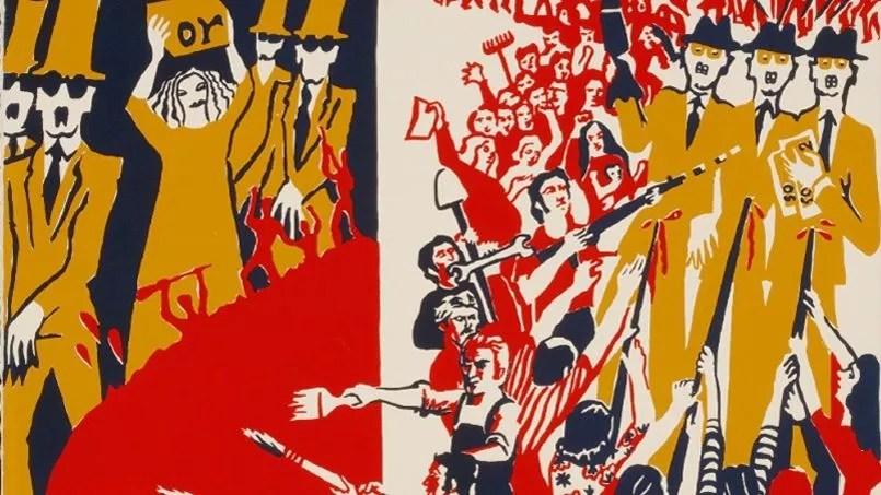 Front des Artistes Plasticiens, <i>Les pinceaux fusils</i>, 1974.