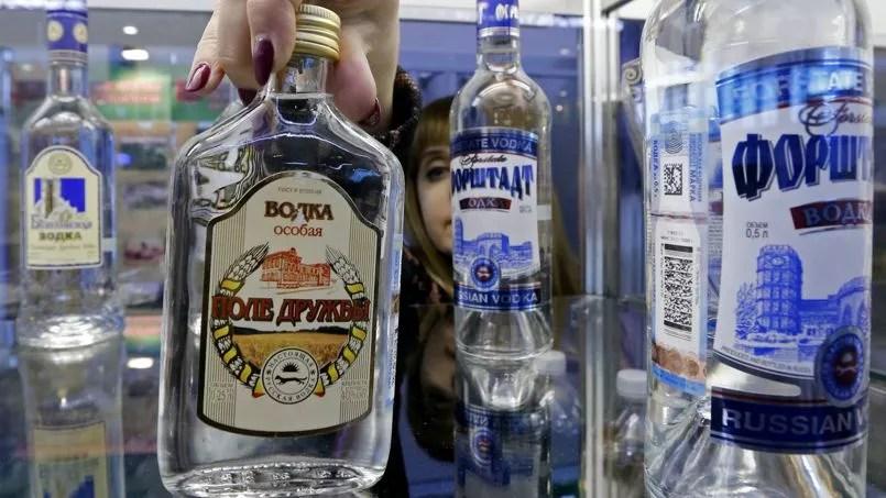 Le prix du demi-litre de vodka a augmenté de 30%.