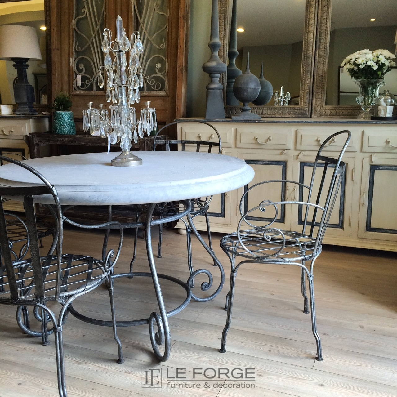 Tables Barneys Table Base Large Hand Forged Steel