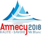 Annecy 2018 Winter Olympics logo, including La Clusaz, France