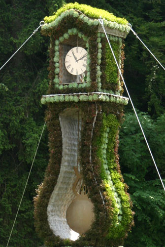 Flowery grandfather clock
