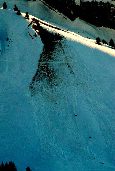 Avalanche at Les Confins