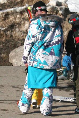 Pyjama ski outfit