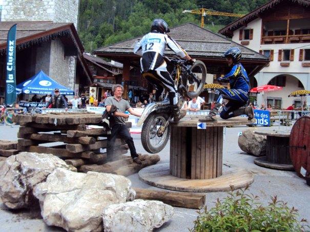 Moto trial in La Clusaz