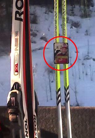 Ski pole clip gadget