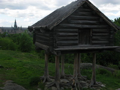 A Swedish raised hut