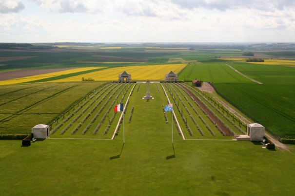 <The Villers-Bretonneux Military Cemetery, in Villers-Bretonneux, France >