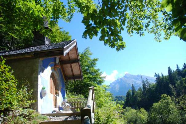 The hidden chapel of La Clusaz, France