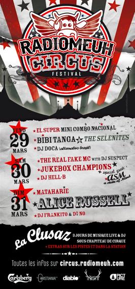 <Picture of the Radio Meuh Circus music festival in La Clusaz, March 2013>