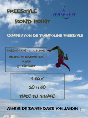 <Flier for the St Jean de Sixt trampoline competition>