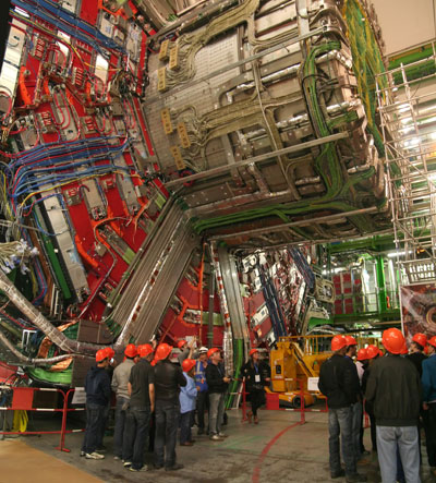<Photo of CERN CMS near Geneva, Switzerland>