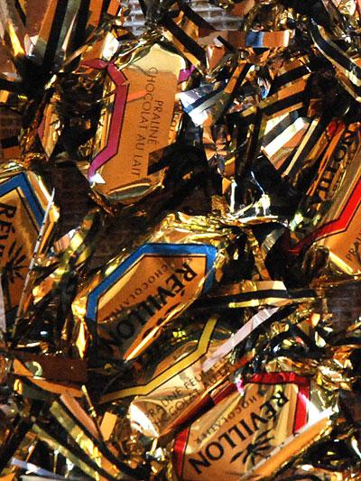 <Photo of French festive chocolates>
