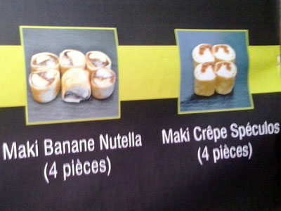 French sushi options