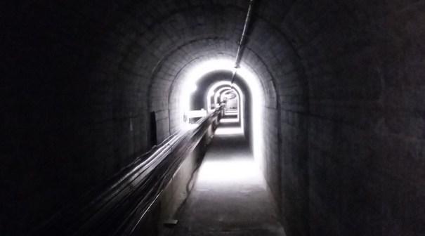 Emosson dam wall tunnel