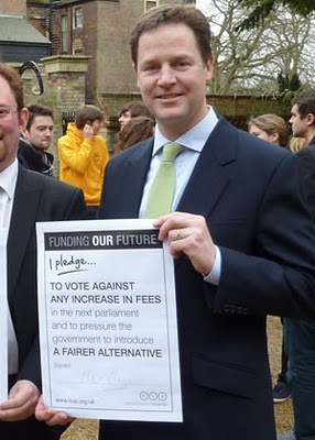 Nick Clegg's pledge on tuition fees