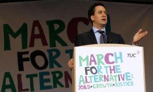Ed Miliband at TUC rally