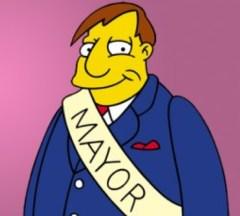 Joe Quimby, Mayor of Springfield, from the Simpsons by Matt Groening