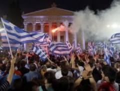 Greek demonstration