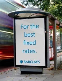 ad at bus stop