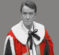 Lord Mandelson in ermine