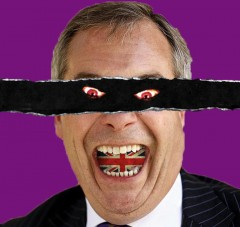 farage with demon eyes