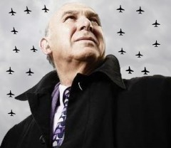 Vince Cable with warplanes