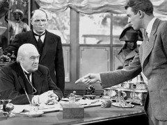 Jimmy Stewart and Lionel Barrymore in It's a Beautiful Life