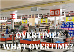 Large stores are cutting back on overtime