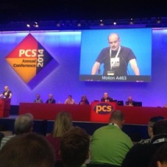 Dave Owens from DWP Liverpool moving motion A463 setting out conditions on any merger talks