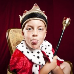 Child dressed as Royal