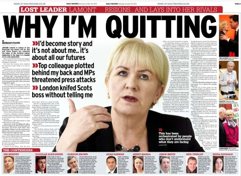 Daily Record on Johann Lamont