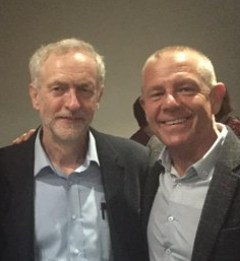 Tim Roache & Jeremy Corbyn
