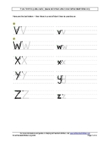 Letter formation guide for left handed children