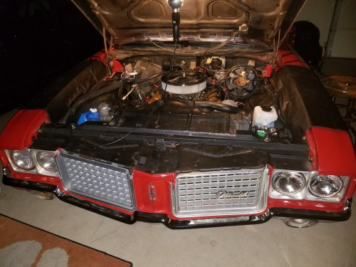72-cutlass-engine-bay