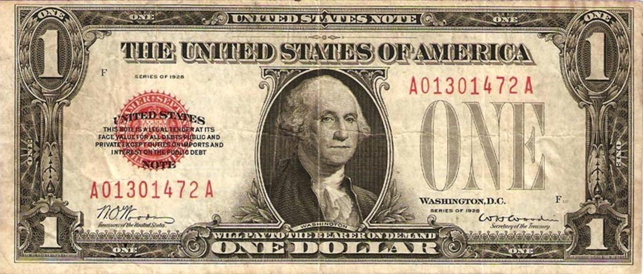 One Dollar Bill Silver Certificate Blue Seal