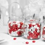 Cadeaux invités : friandises chocolatées M&M's mariage