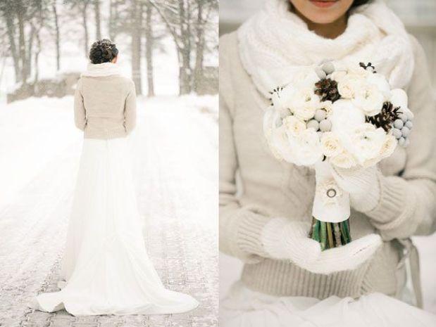 Mariage en hiver un r ve orn de blanc le futur mari - Etole mariage hiver ...