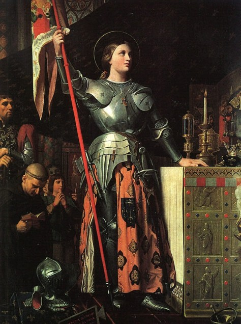 Joan of Arc at the Coronation of Charles VII. Painting by Dominique Ingres. Painted in 1854.