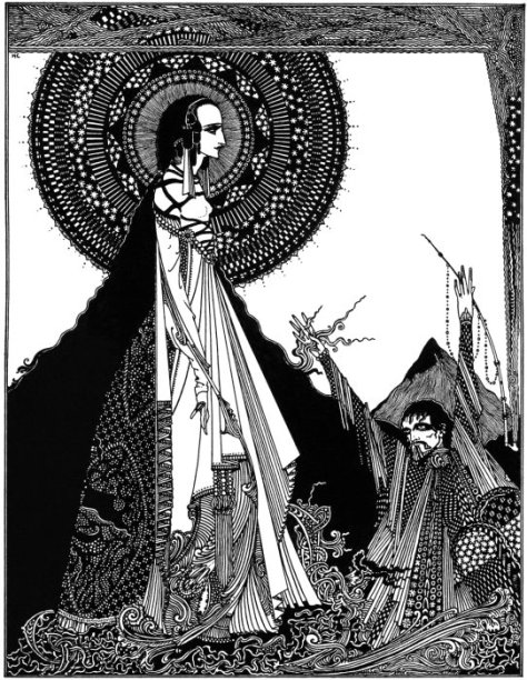 """Illustration for Edgar Allan Poe's story """"Ligeia"""" by Harry Clarke (1889-1931), published in 1919. How many times has a teacher, your parents, your boss asked you to close your eyes and use your imagination?  For most everyone that answer is never."""