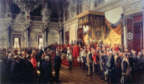 Painting by: Anton Von Werner: State Opening of Parliament (German Reichstag) on 25 June 1888, celebrated in the White Hall of the Berlin Palace In life and work, all of us play many roles. In this painting, we see a many individuals, playing many roles.