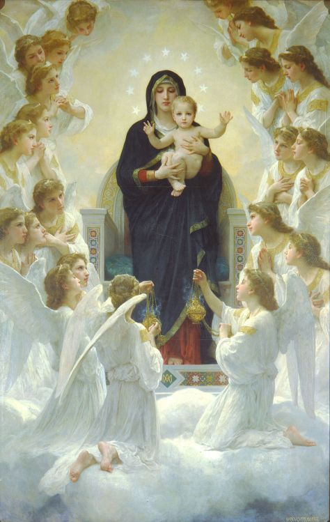 Adolphe Bouguereau (1825-1905) The Virgin With Angels