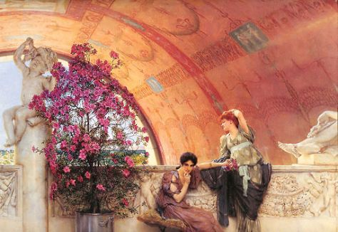 Painting by: Lawrence Alma-Tadema (1836–1912): Unconscious Rivals