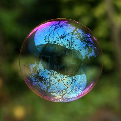 Reflection in a Soap Bubble, Image by Mila Zink ova