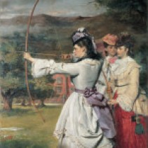 Skill_ Practice_The_Fair_Toxophilites_William_Powell_Frith_RAMM