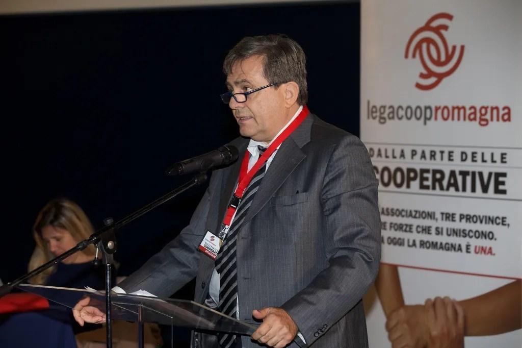 Il presidente di Legacoop Emilia-Romagna, Giovanni Monti