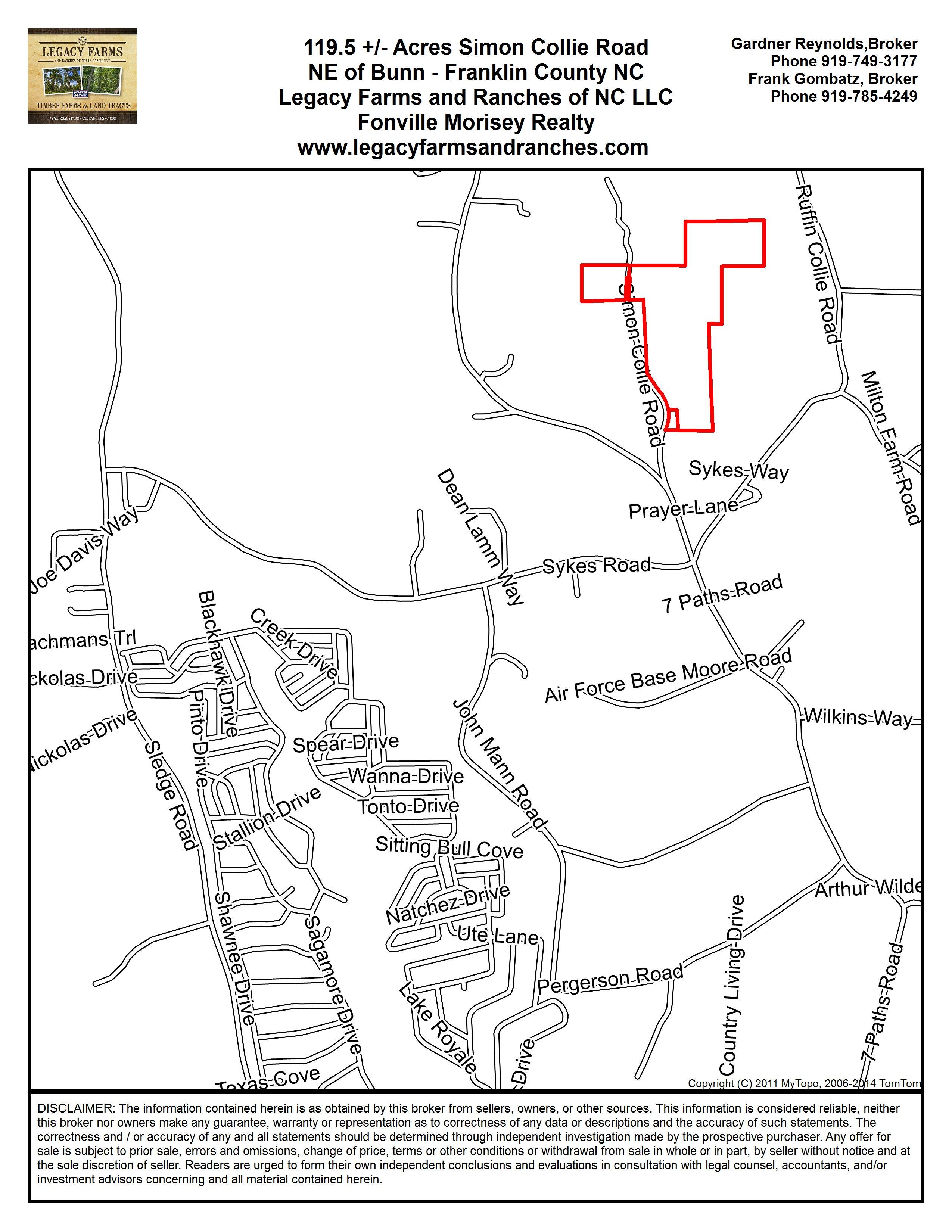 119 5 Acres On Simon Collie Rd Farm For Sale Near Bunn In